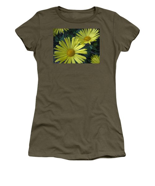 Women's T-Shirt (Junior Cut) featuring the photograph Spring Yellow  by Cheryl Hoyle
