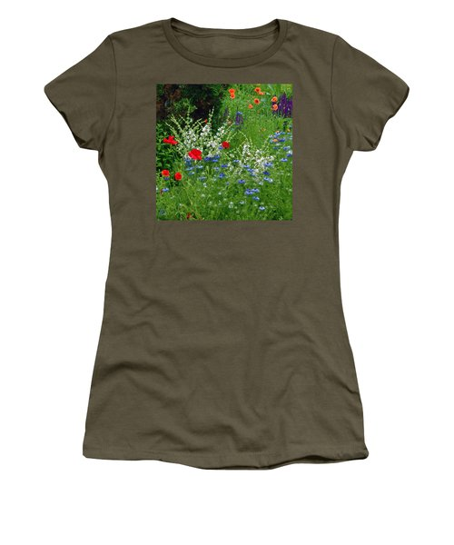 Squarely Spring Floral Garden Women's T-Shirt