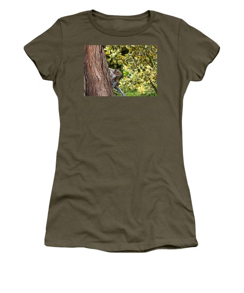 Women's T-Shirt (Junior Cut) featuring the photograph Squirrel by Kate Brown