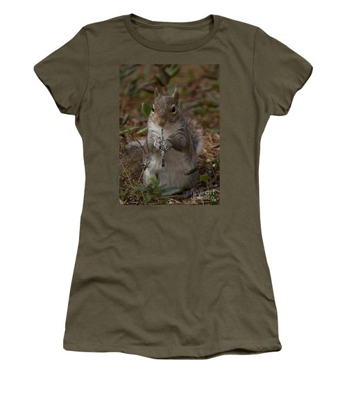 Squirrel With His Obo Women's T-Shirt (Athletic Fit)
