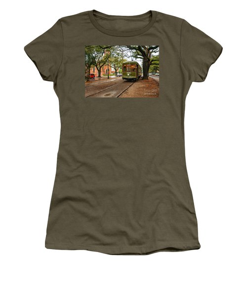 St. Charles Ave. Streetcar In New Orleans Women's T-Shirt (Junior Cut) by Kathleen K Parker