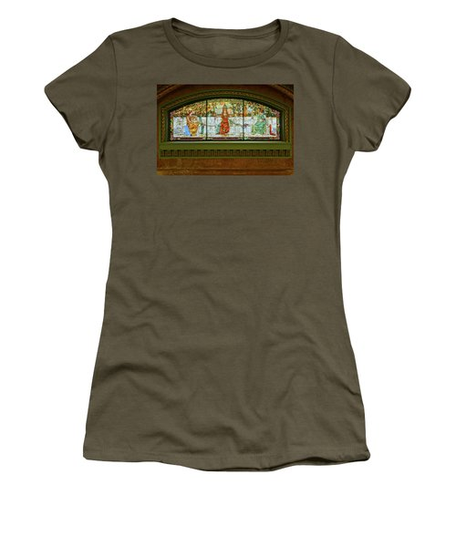 St Louis Union Station Allegorical Window Women's T-Shirt (Junior Cut) by Greg Kluempers