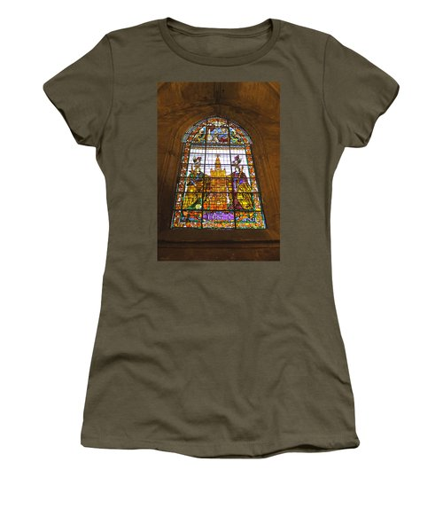 Stained Glass Window In Seville Cathedral Women's T-Shirt (Athletic Fit)