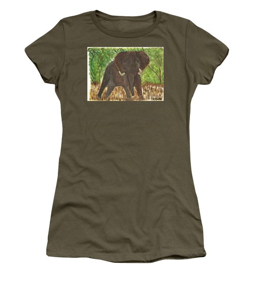 Women's T-Shirt (Junior Cut) featuring the painting Standing My Ground by Tracey Williams