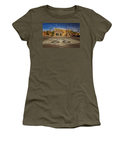 Standing On The Corner In Winslow Arizona Dsc08854 Women's T-Shirt (Athletic Fit)