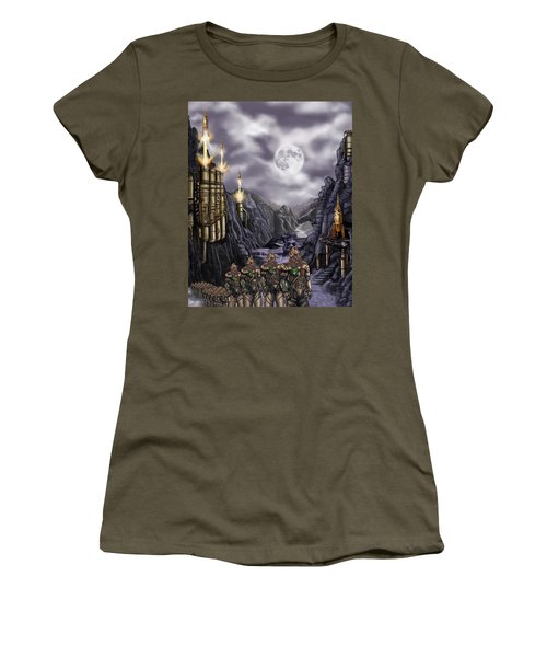 Steampunk Moon Invasion Women's T-Shirt