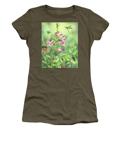 Stinging Insects In Garden Scene Women's T-Shirt