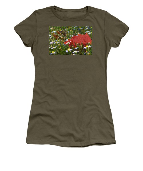 Women's T-Shirt (Junior Cut) featuring the photograph Stocking Up For The Winter by Gary Holmes