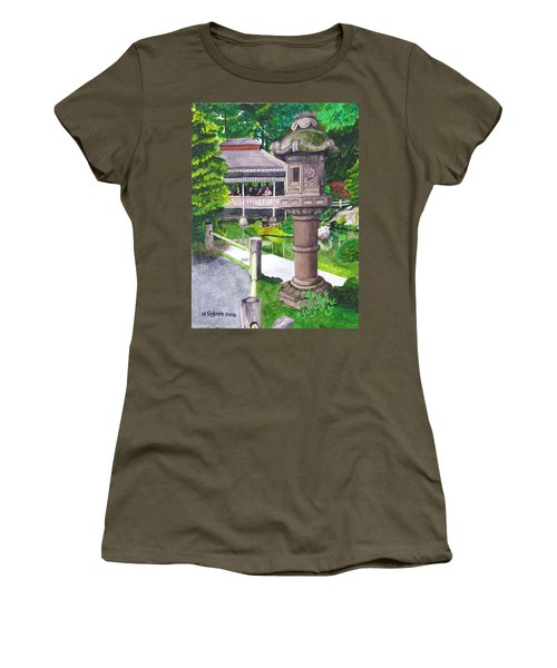 Stone Lantern Women's T-Shirt (Junior Cut) by Mike Robles