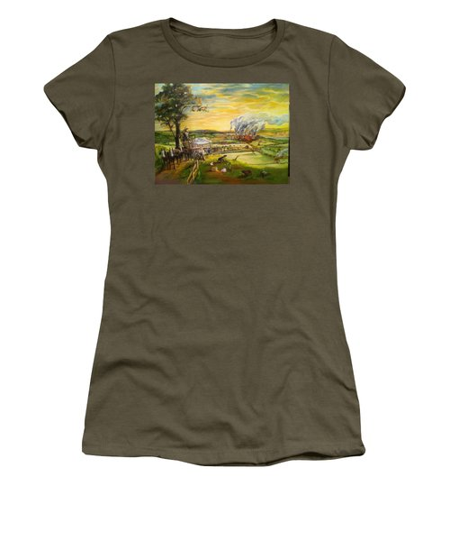Story2 Women's T-Shirt (Junior Cut) by Mary Ellen Anderson