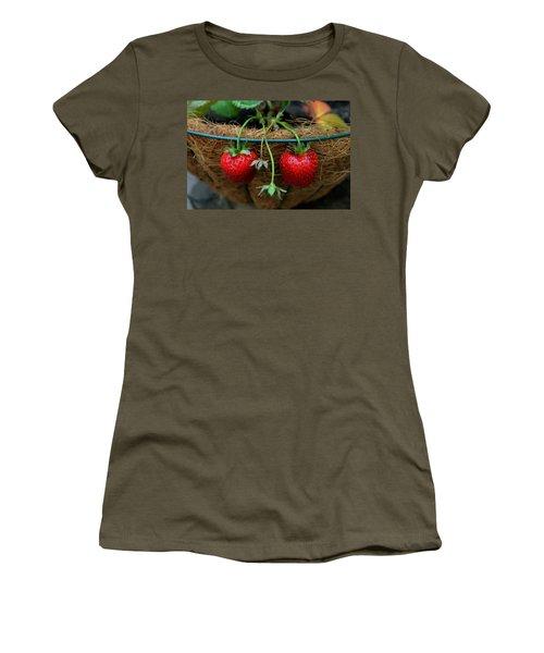 Strawberries Women's T-Shirt (Junior Cut) by Pamela Walton