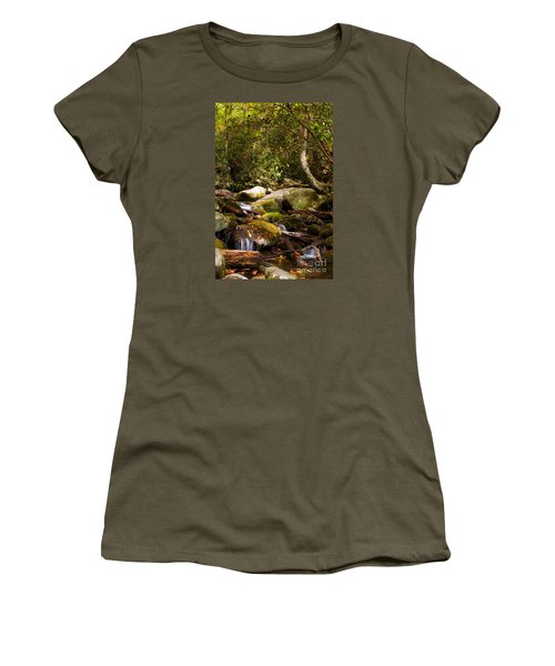 Stream At Roaring Fork Women's T-Shirt (Junior Cut) by Lena Auxier