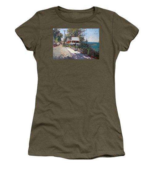 Street In Olcott Beach  Women's T-Shirt