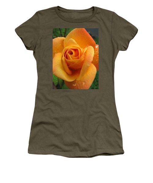 Women's T-Shirt (Junior Cut) featuring the photograph Strike It Rich - My Summer Garden by Brooks Garten Hauschild