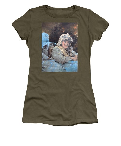 Study For Donald Campbell Oil On Canvas Women's T-Shirt