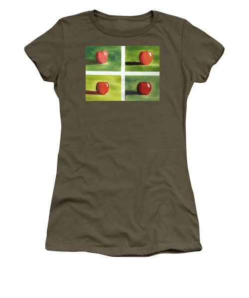 Study Red And Green Women's T-Shirt (Athletic Fit)