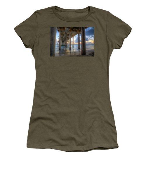Subtle Pier Sunset Women's T-Shirt