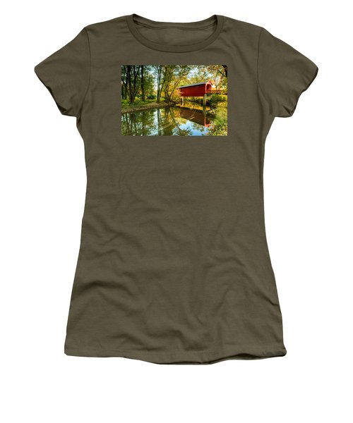 Sugar Creek Covered Bridge Women's T-Shirt