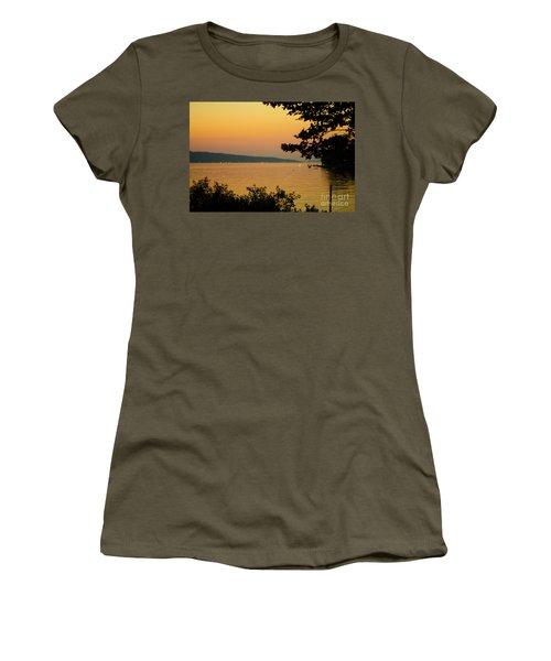 Summer Evening On Cayuga Lake Women's T-Shirt