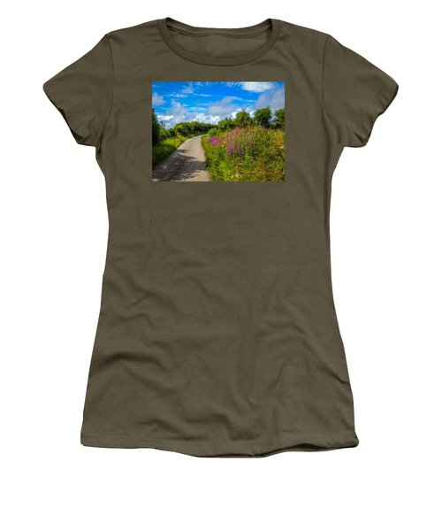 Summer Flowers On Irish Country Road Women's T-Shirt