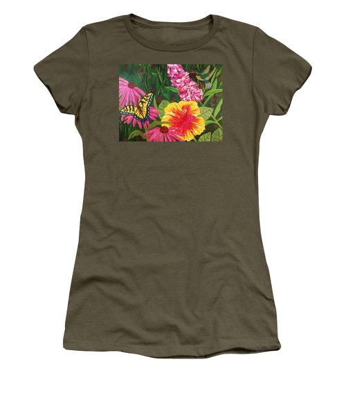 Summer Garden Women's T-Shirt (Junior Cut) by Ellen Levinson
