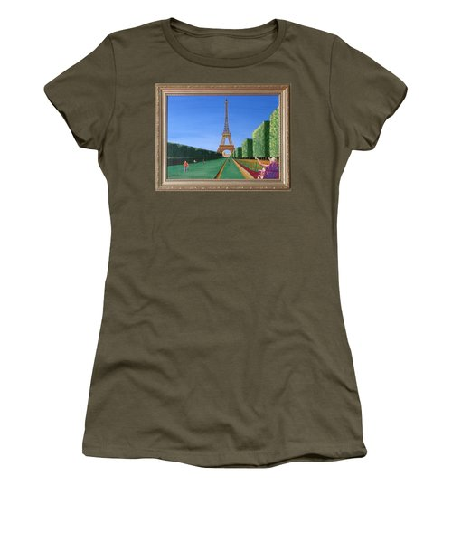 Women's T-Shirt (Junior Cut) featuring the painting Summer In Paris by Ron Davidson
