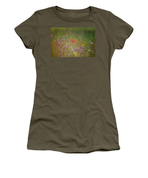 Women's T-Shirt (Junior Cut) featuring the photograph Summer Meadow by Ellen Heaverlo