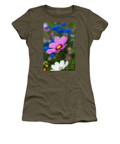 Women's T-Shirt (Junior Cut) featuring the photograph Summer Wild Blooms by Matt Malloy
