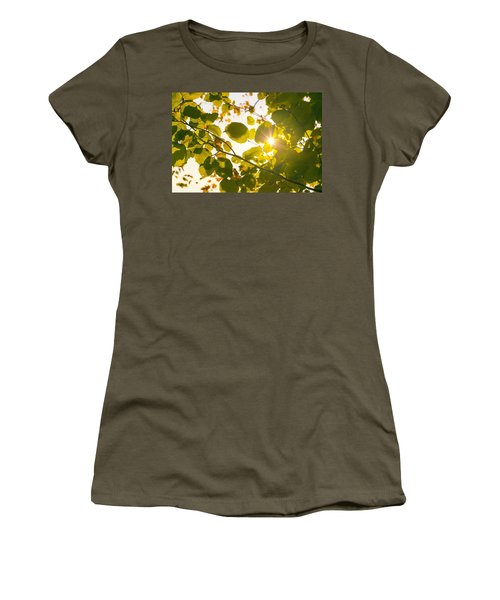 Sun Shining Through Leaves Women's T-Shirt (Junior Cut) by Chevy Fleet