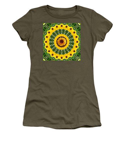 Sunflower Centerpiece Women's T-Shirt (Athletic Fit)