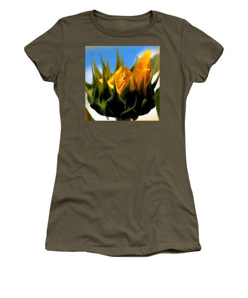 Sunflower Teardrop Women's T-Shirt