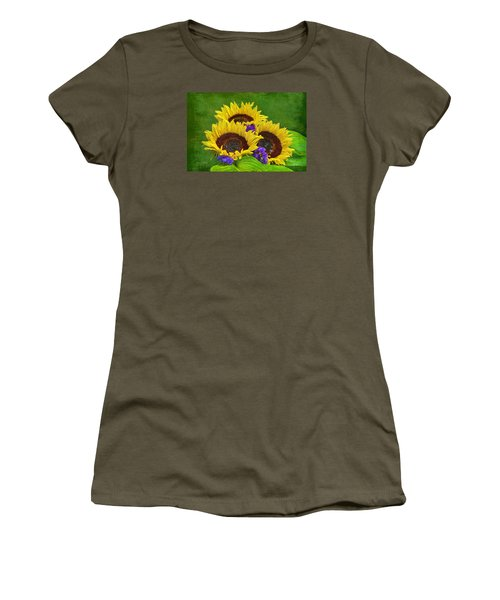 Sunflower Trio Women's T-Shirt (Athletic Fit)