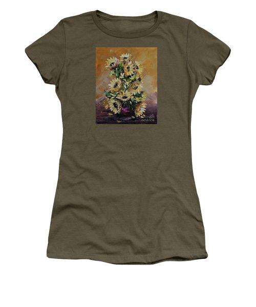 Sunflowers For You Women's T-Shirt (Junior Cut) by Teresa Wegrzyn