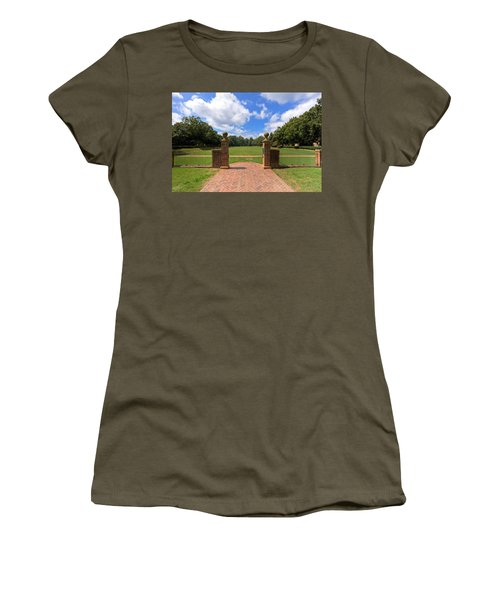 Women's T-Shirt (Junior Cut) featuring the photograph Sunken Garden At William And Mary by Jerry Gammon