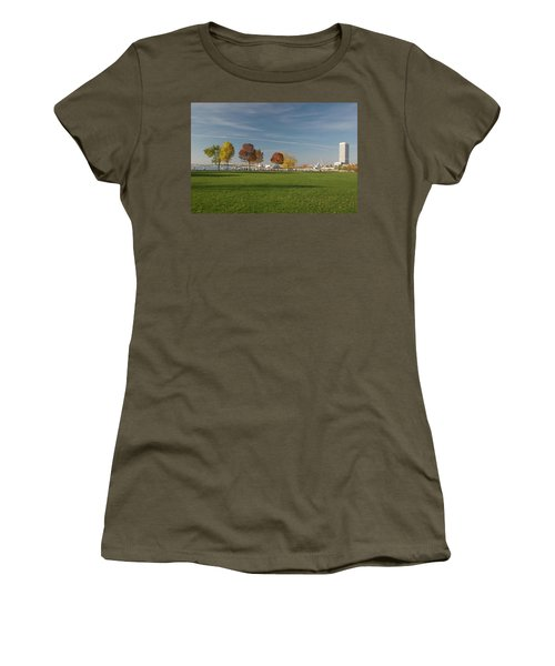 Women's T-Shirt (Junior Cut) featuring the photograph Sunny Autumn Day by Jonah  Anderson