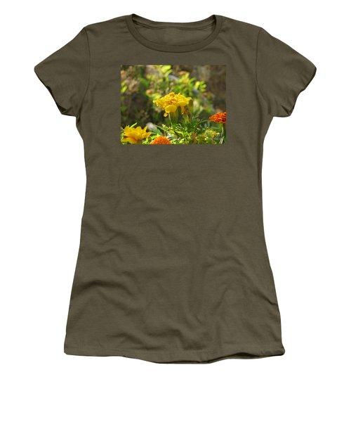 Sunny Marigold Women's T-Shirt (Junior Cut) by Leone Lund