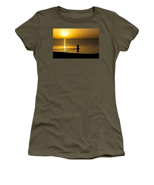 Sunrise Fishing Women's T-Shirt (Athletic Fit)