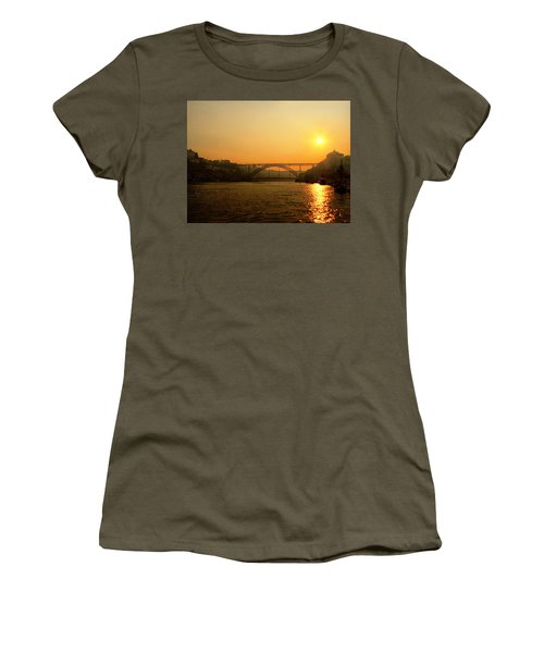 Sunrise Over The River Women's T-Shirt (Athletic Fit)