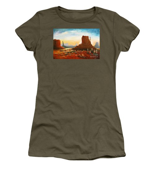 Sunrise Stampede Women's T-Shirt (Junior Cut) by Marilyn Smith