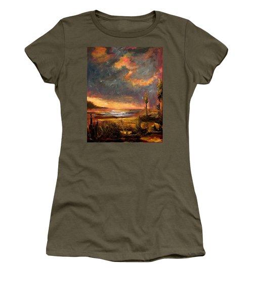 Sunrise With Birds  Women's T-Shirt
