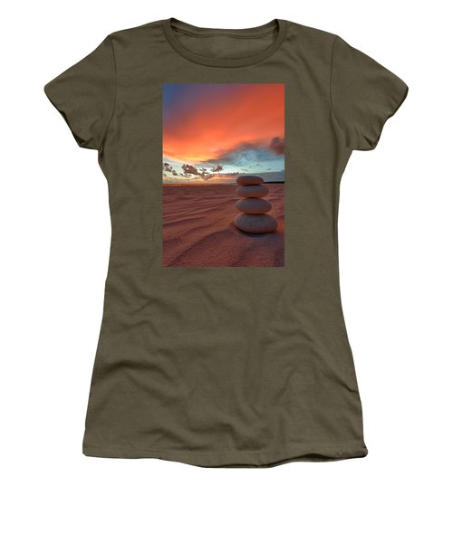 Women's T-Shirt (Athletic Fit) featuring the photograph Sunrise Zen by Sebastian Musial