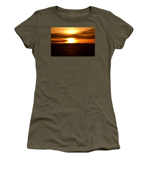 Sunset Abstract II Women's T-Shirt (Athletic Fit)