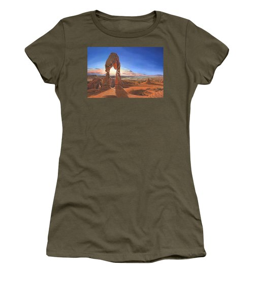 Sunset At Delicate Arch Utah Women's T-Shirt