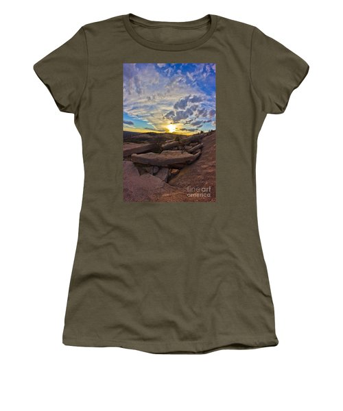 Sunset At Enchanted Rock State Natural Area Women's T-Shirt