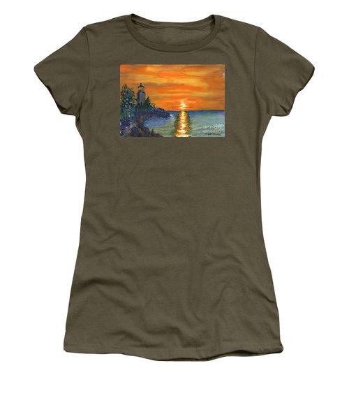 Sunset At The Lighthouse Women's T-Shirt