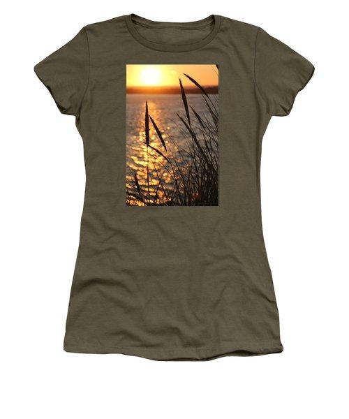 Women's T-Shirt (Junior Cut) featuring the photograph Sunset Beach by Athena Mckinzie