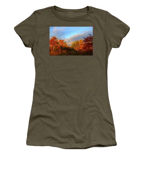 Women's T-Shirt (Junior Cut) featuring the photograph Sunset Glow by Kathryn Meyer