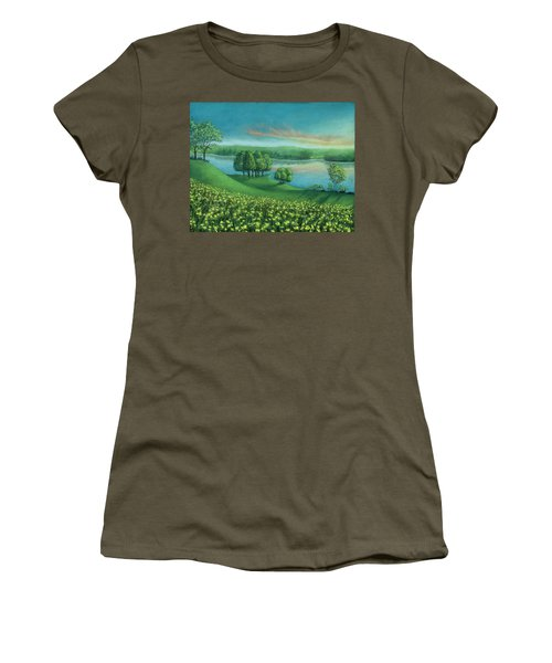 Sunset Lake A Women's T-Shirt (Athletic Fit)
