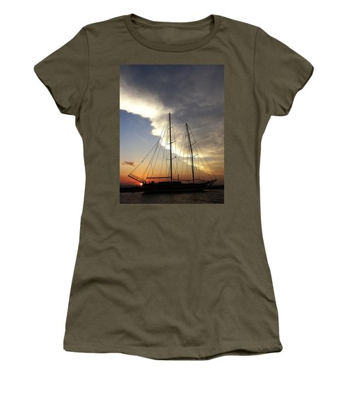 Sunset On The Turkish Gulet Women's T-Shirt (Junior Cut) by Anne Mott