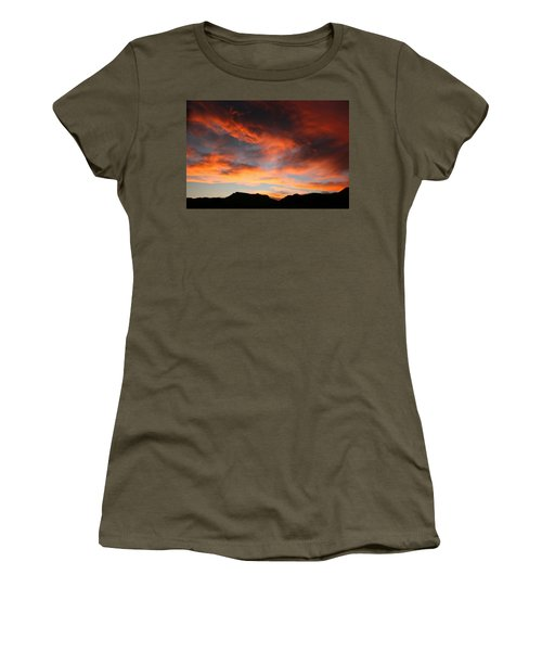 Sunset Over Estes Park Women's T-Shirt (Athletic Fit)